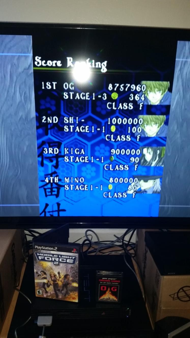 OriginalGamer: Mobile Light Force 2 / Shikigami no Shiro (Playstation 2) 8,757,960 points on 2015-11-23 18:40:30