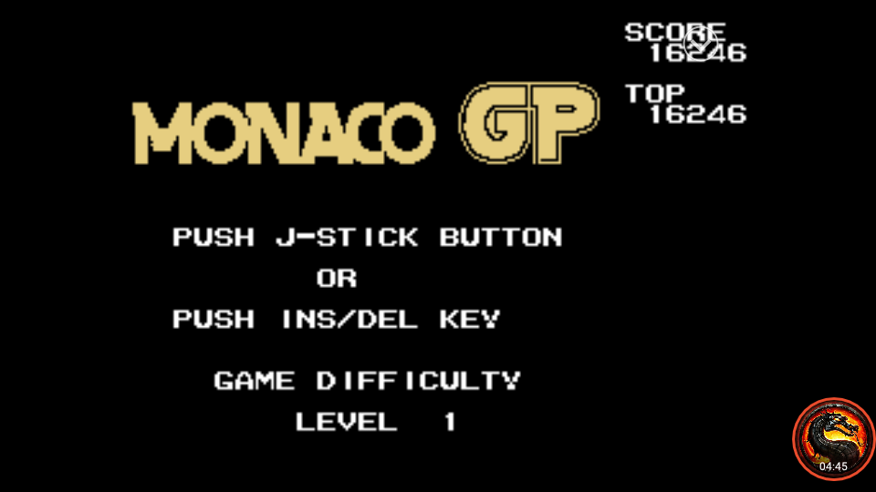 omargeddon: Monaco GP [Level 1] (Sega SG-1000 Emulated) 16,246 points on 2020-02-08 22:08:53