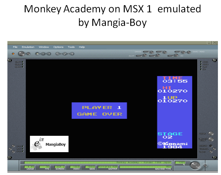 MangiaBoy: Monkey Academy (MSX Emulated) 10,270 points on 2017-01-29 18:26:35