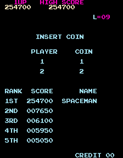 QSpaceman: Monkey Donkey (Arcade Emulated / M.A.M.E.) 254,700 points on 2016-03-22 02:24:05