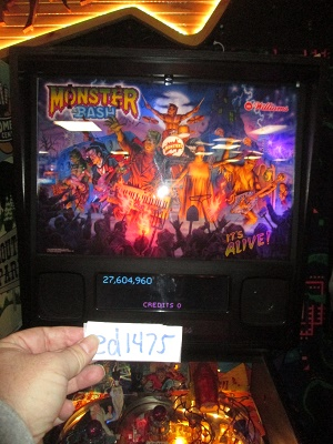 ed1475: Monster Bash (Pinball: 3 Balls) 27,604,960 points on 2017-02-05 15:55:58