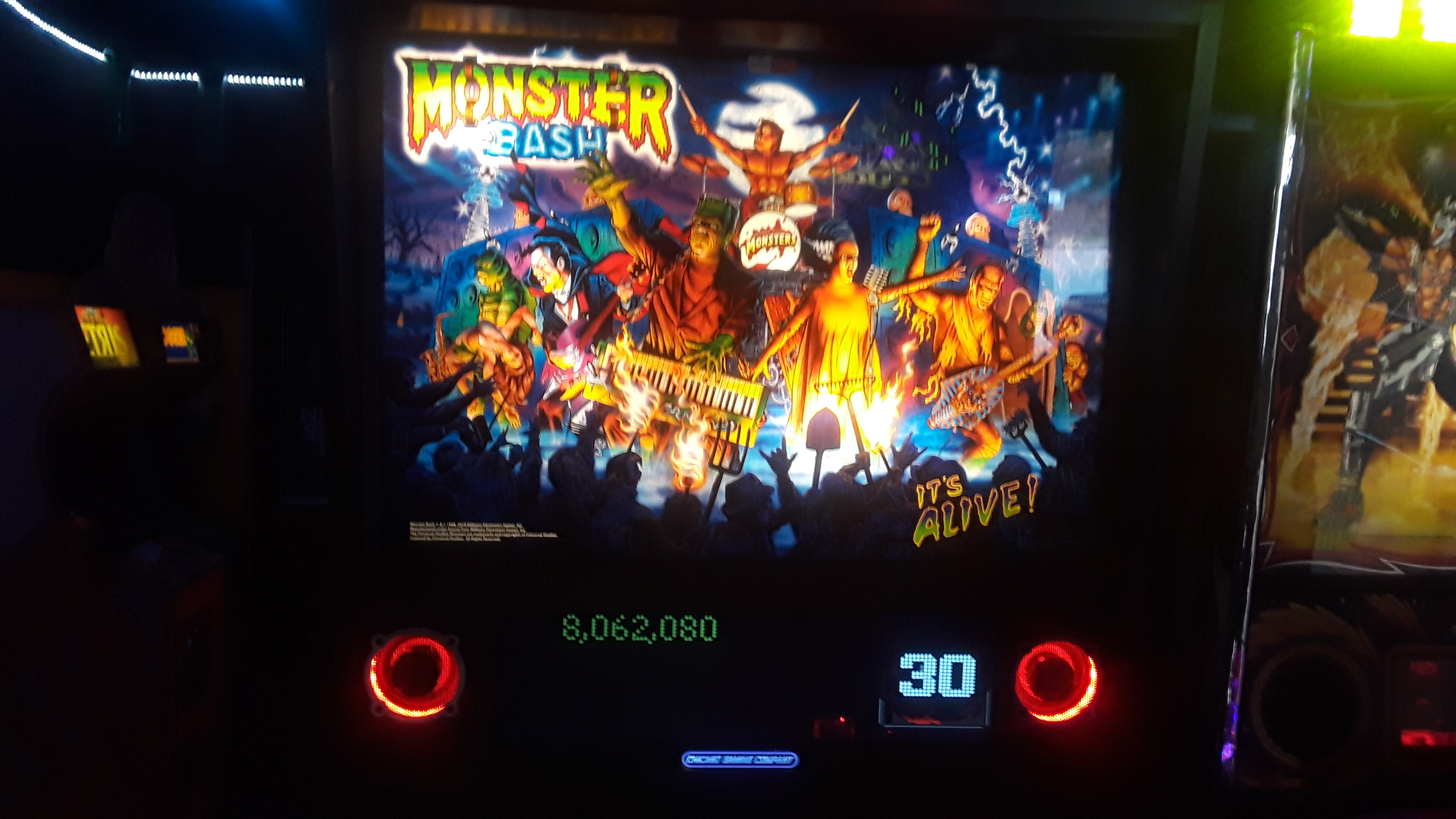JML101582: Monster Bash (Pinball: 3 Balls) 8,062,080 points on 2019-11-16 16:36:27