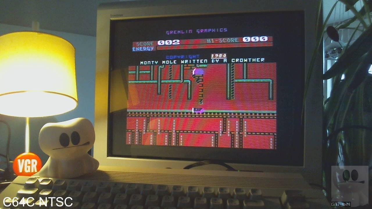 GTibel: Monty Mole [Easy] (Commodore 64) 2 points on 2020-01-30 07:55:32