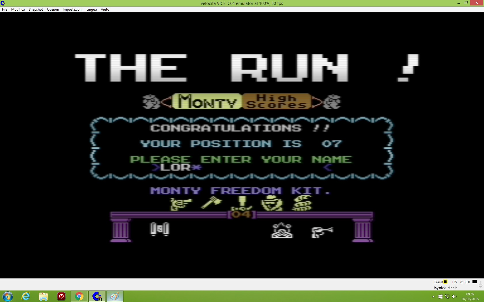 lenny2571: Monty on the Run (Commodore 64 Emulated) 450 points on 2016-02-07 03:00:29
