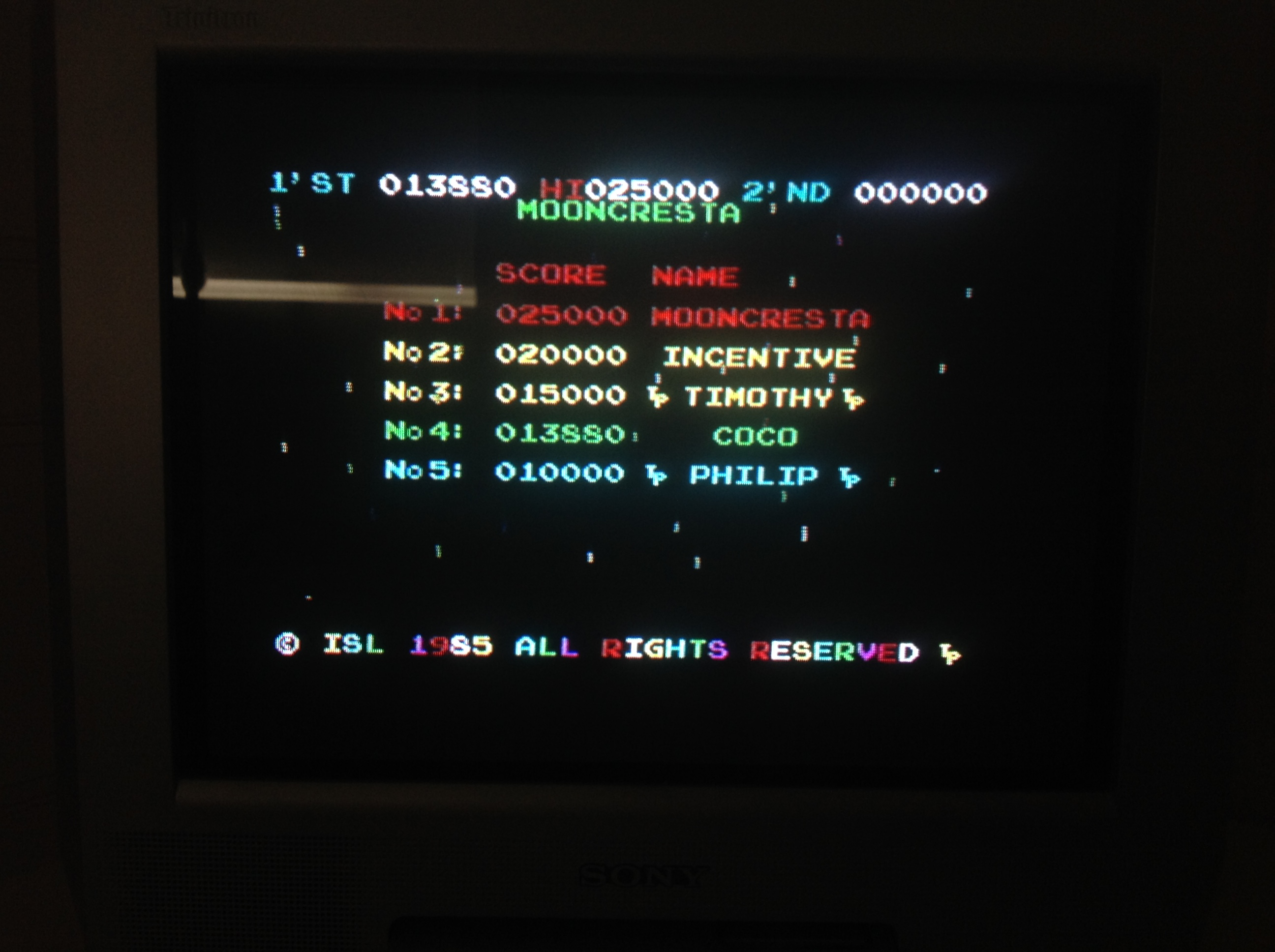 CoCoForest: Moon Cresta (ZX Spectrum) 13,880 points on 2016-01-16 09:10:25