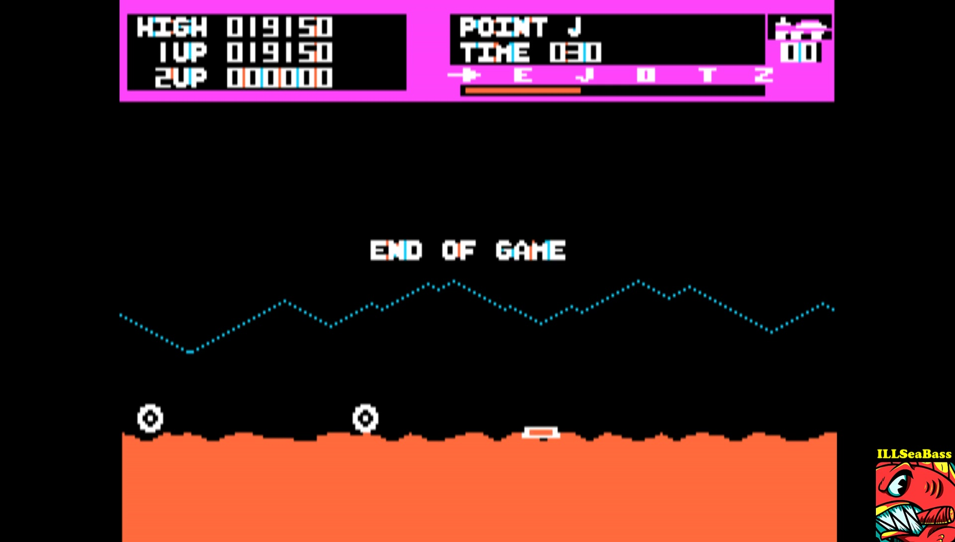 Moon Patrol 19,150 points
