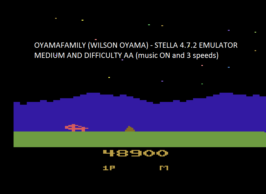 oyamafamily: Moon Patrol (Atari 2600 Emulated Expert/A Mode) 48,900 points on 2017-02-05 10:07:35