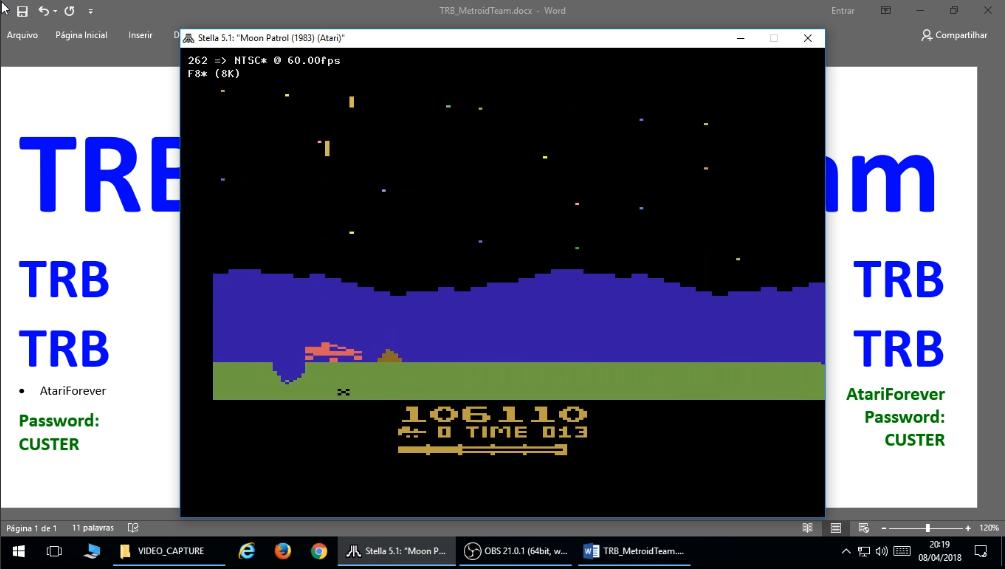 TRBMetroidTeam: Moon Patrol (Atari 2600 Emulated Expert/A Mode) 106,110 points on 2018-08-30 20:11:59