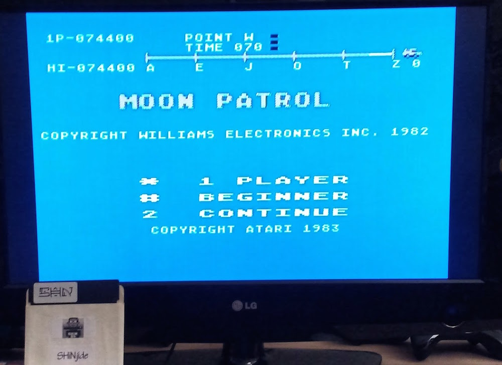 Moon Patrol 74,400 points