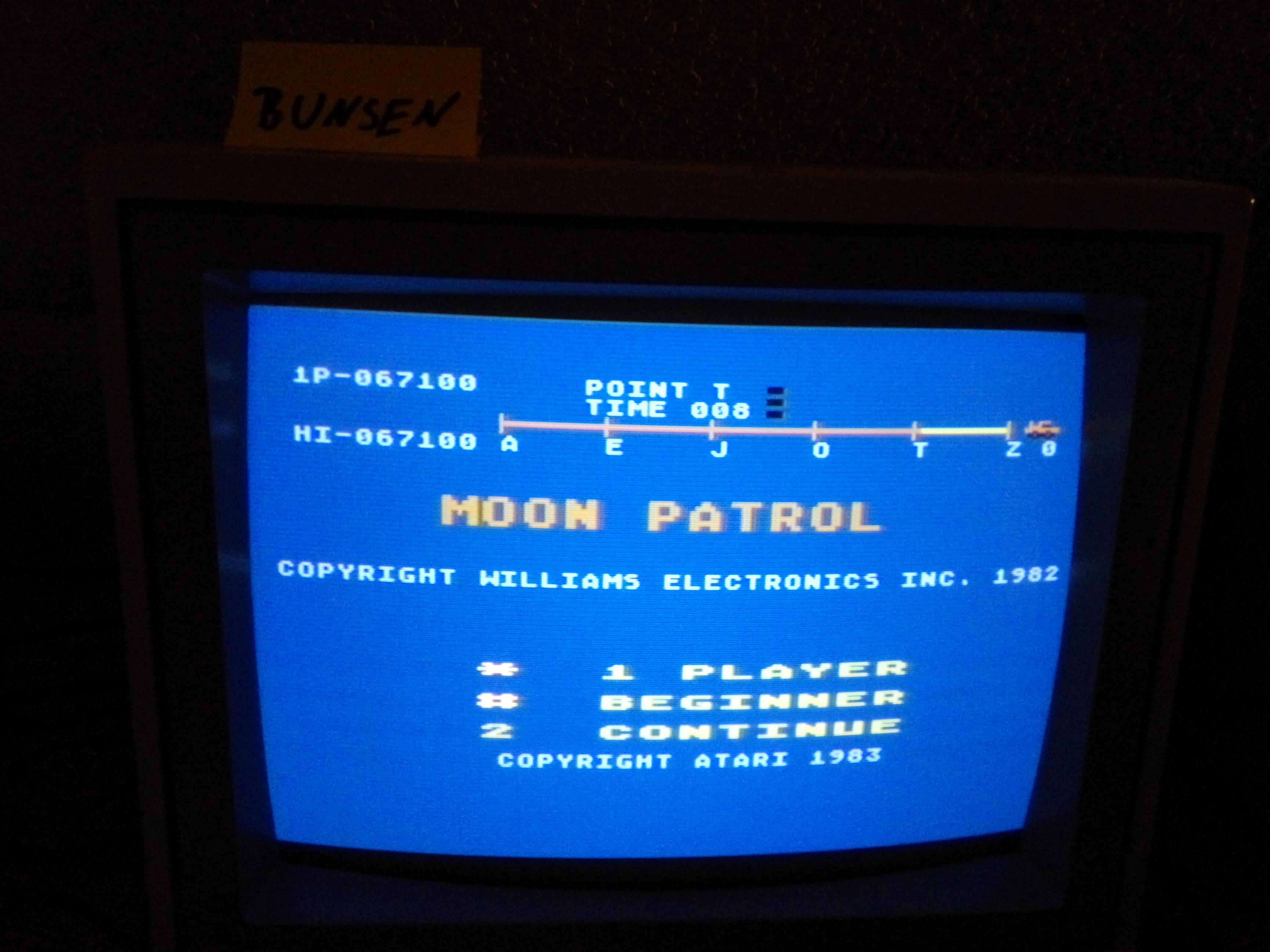 Bunsen: Moon Patrol (Atari 400/800/XL/XE) 67,100 points on 2016-09-18 15:03:08