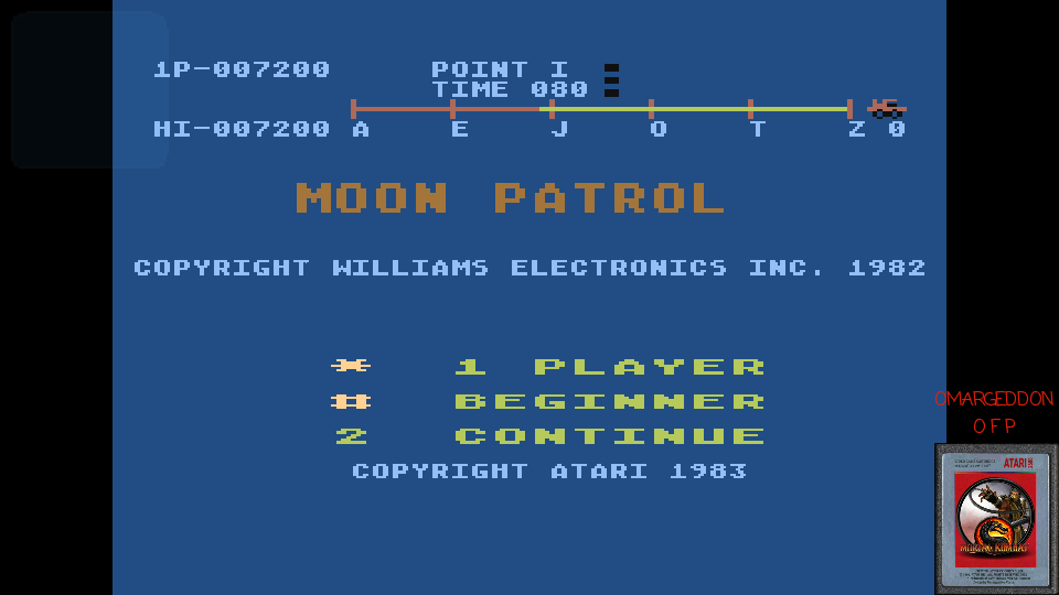 omargeddon: Moon Patrol (Atari 400/800/XL/XE Emulated) 7,200 points on 2017-03-07 23:28:18