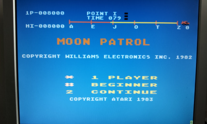 Larquey: Moon Patrol (Atari 400/800/XL/XE Emulated) 8,000 points on 2017-08-30 11:43:49