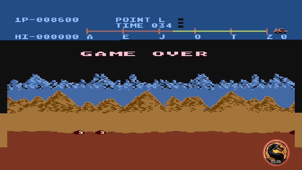 omargeddon: Moon Patrol (Atari 400/800/XL/XE Emulated) 8,600 points on 2019-02-20 02:14:19