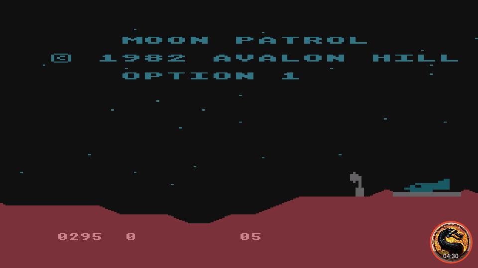 omargeddon: Moon Patrol [Avalon Hill] [Option 1] (Atari 400/800/XL/XE Emulated) 295 points on 2019-02-13 22:07:52