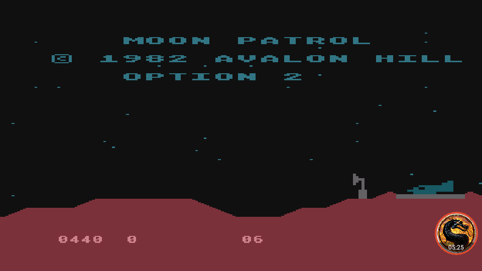 omargeddon: Moon Patrol [Avalon Hill] [Option 2] (Atari 400/800/XL/XE Emulated) 440 points on 2019-02-13 22:23:03