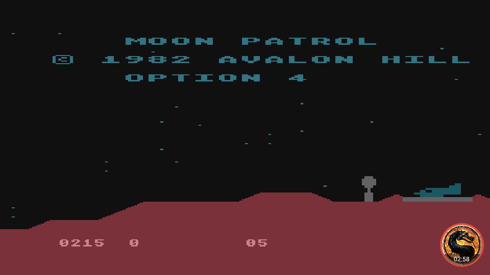 omargeddon: Moon Patrol [Avalon Hill] [Option 4] (Atari 400/800/XL/XE Emulated) 215 points on 2019-02-13 22:24:24
