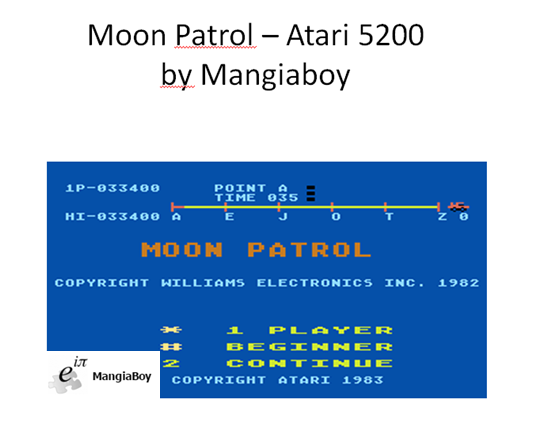 Moon Patrol: Beginner 33,400 points