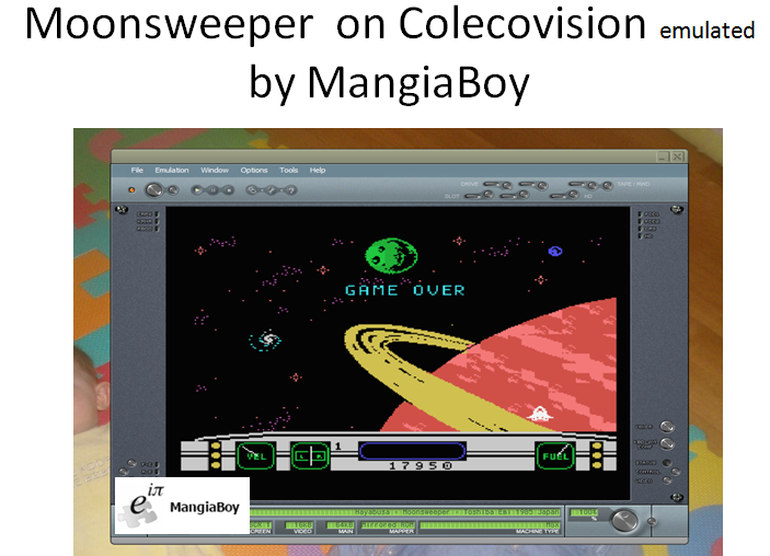 MangiaBoy: Moonsweeper (Colecovision Emulated) 17,950 points on 2016-12-02 20:22:15