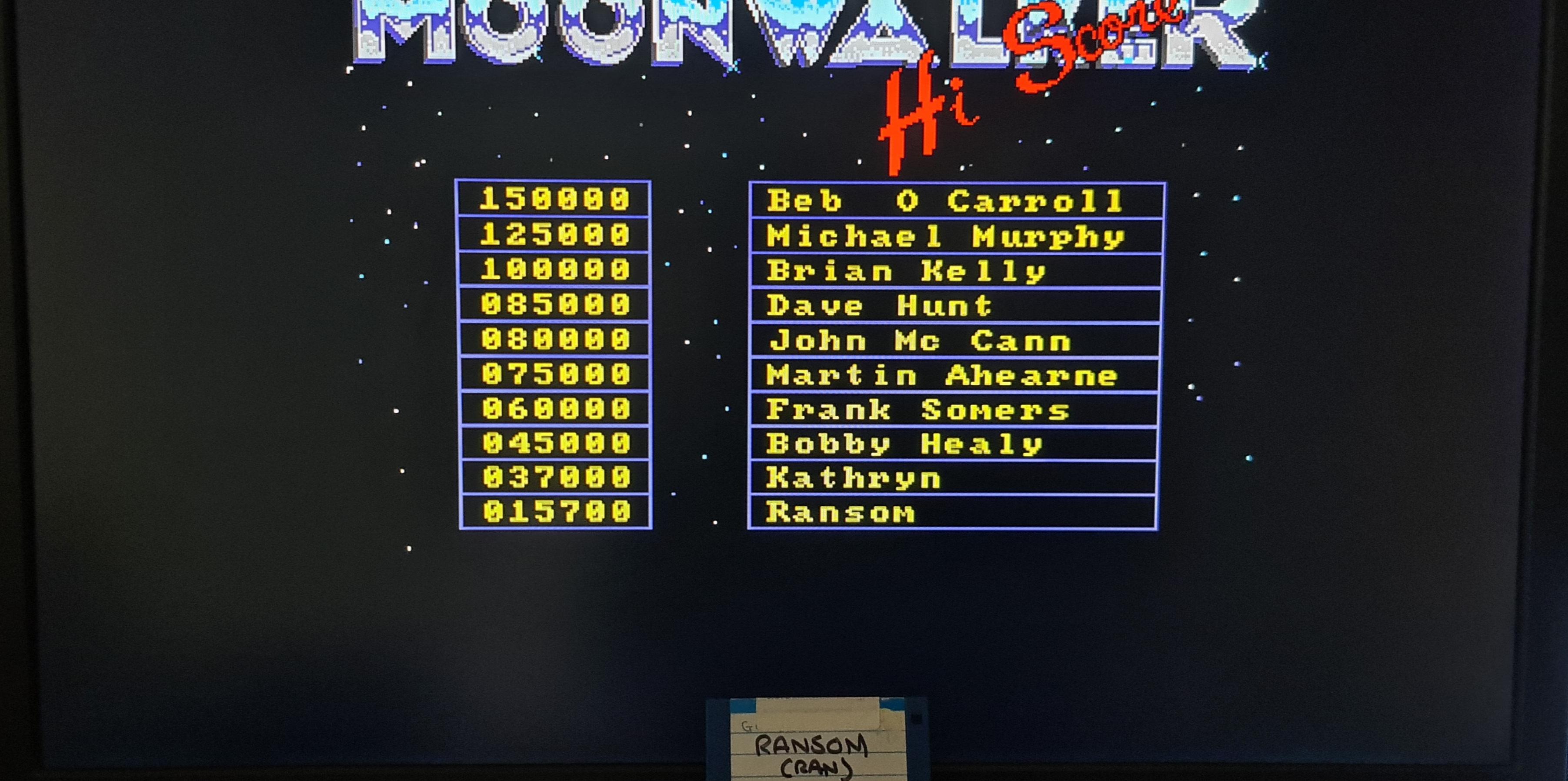 ransom: Moonwalker (Amiga Emulated) 15,700 points on 2020-10-22 22:45:55
