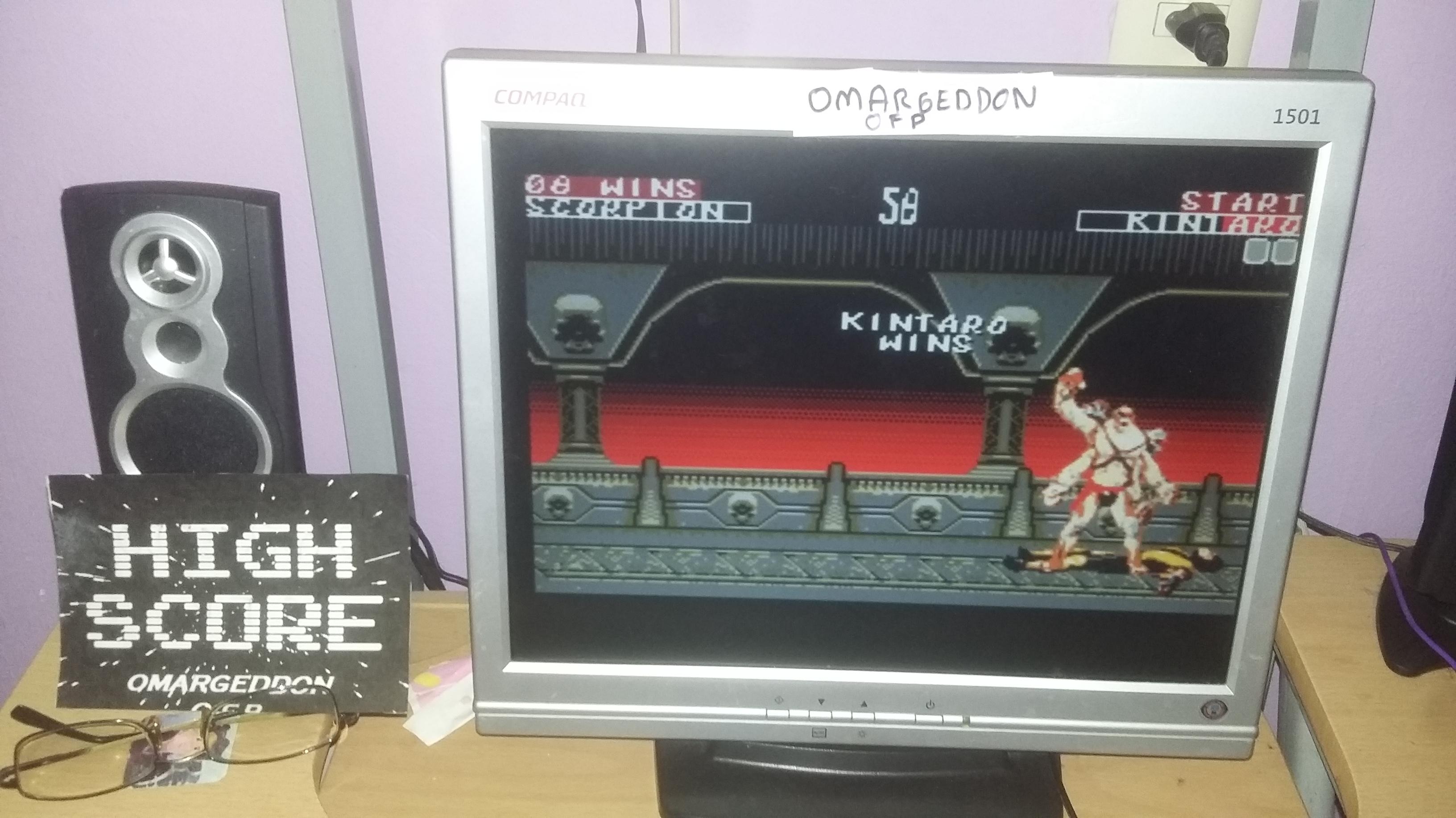 Mortal Kombat 2: Easy:  Win streak 8 points