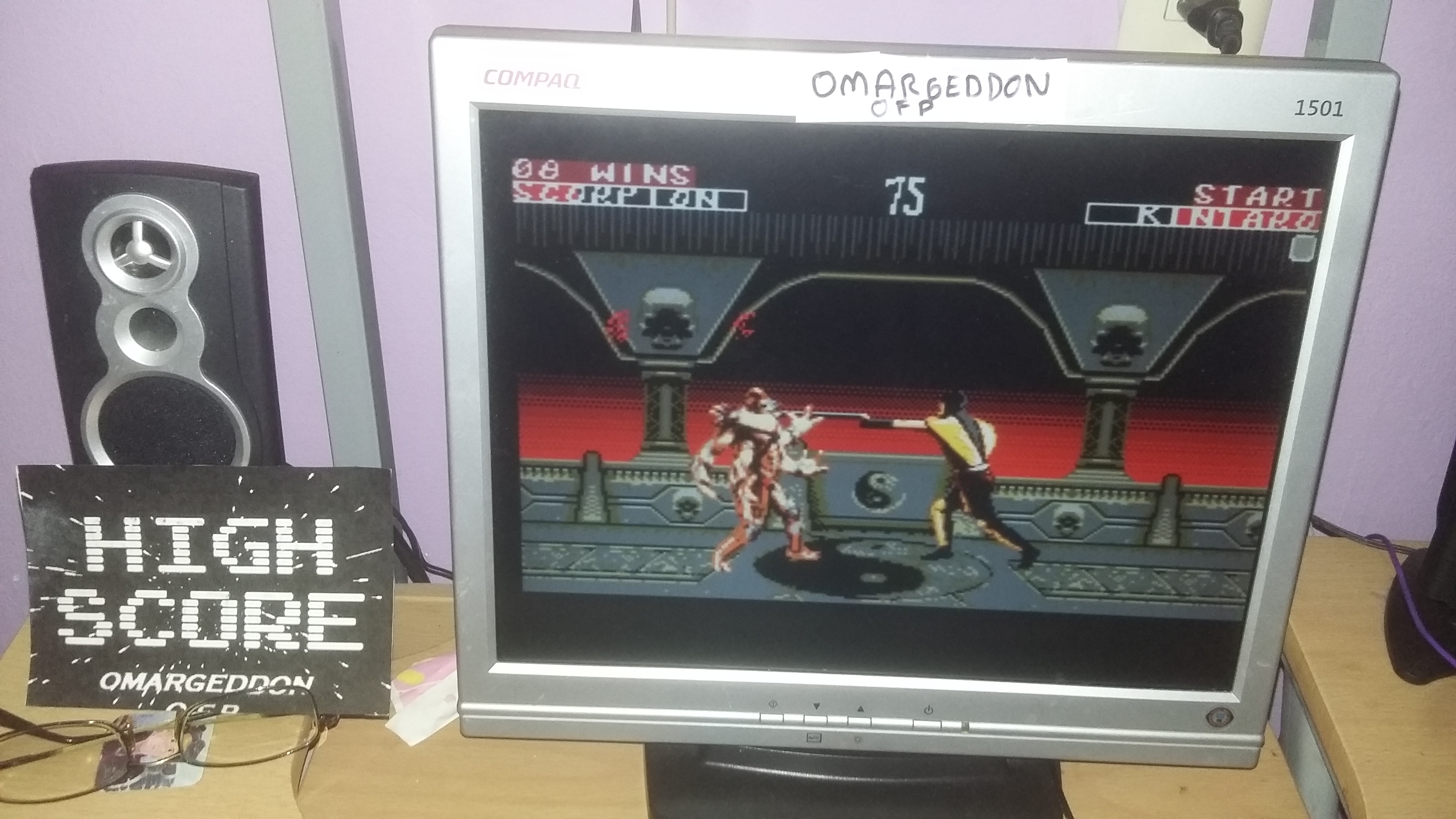 omargeddon: Mortal Kombat 2: Easy:  Win streak (Sega Master System Emulated) 8 points on 2016-10-26 19:12:56