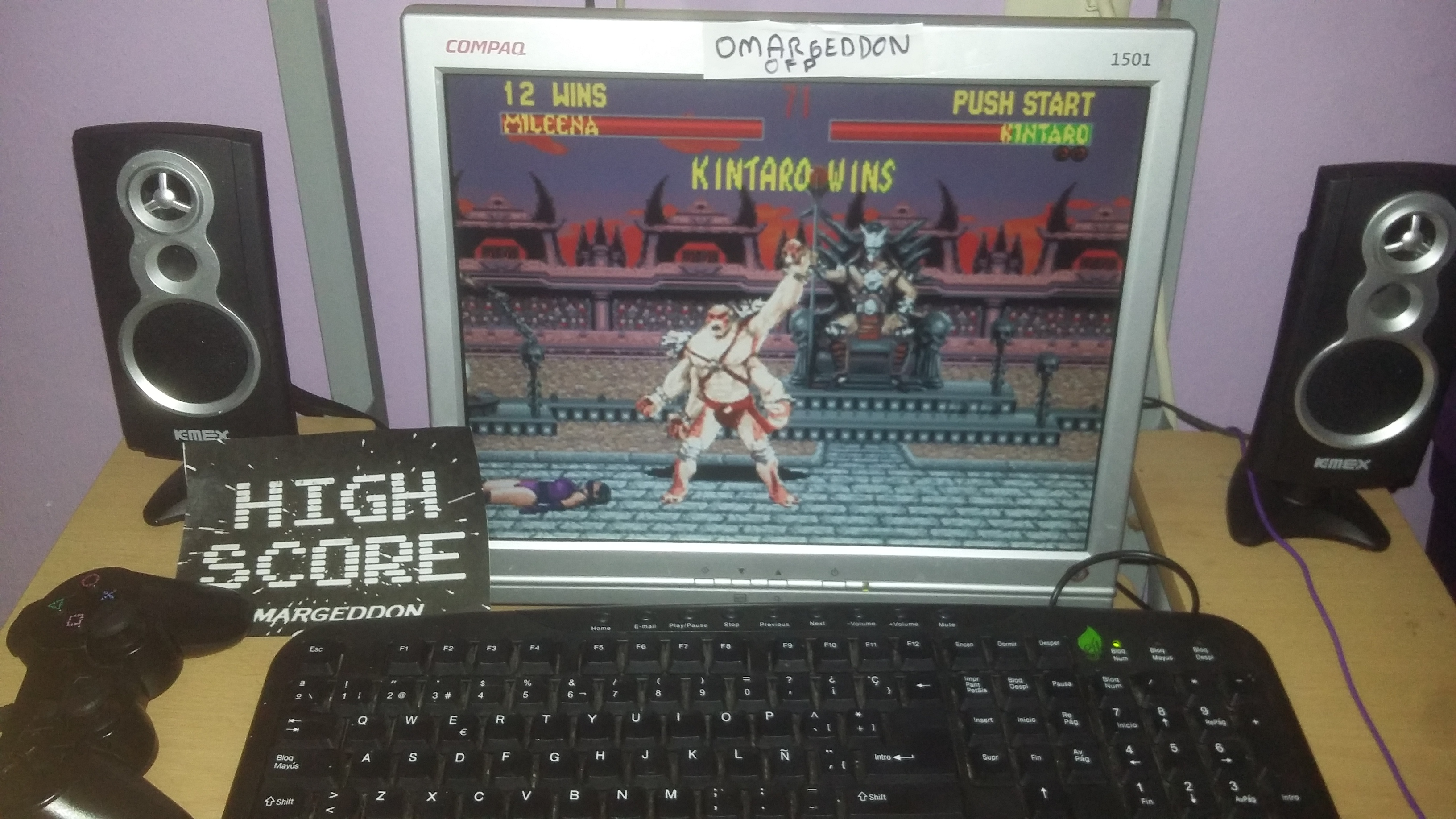 omargeddon: Mortal Kombat 2: Very Easy:  Win streak (Sega Genesis / MegaDrive Emulated) 12 points on 2016-10-25 20:26:37