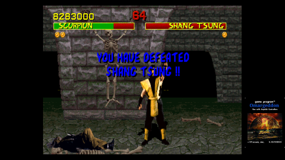 omargeddon: Mortal Kombat (Arcade Emulated / M.A.M.E.) 8,283,000 points on 2017-10-28 21:06:30