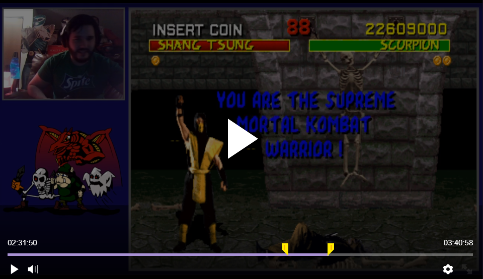 TheKombatKing: Mortal Kombat (Arcade Emulated / M.A.M.E.) 22,609,000 points on 2018-02-23 09:00:19