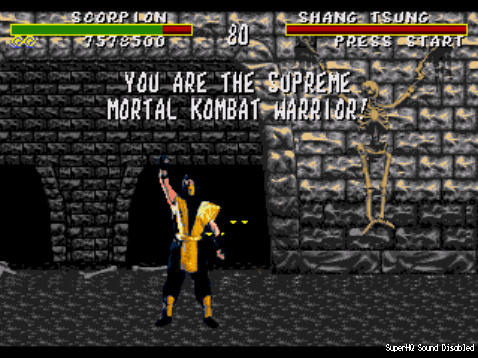 gazzhally: Mortal Kombat [Easy] (Sega Genesis / MegaDrive Emulated) 7,578,500 points on 2017-01-19 12:13:17