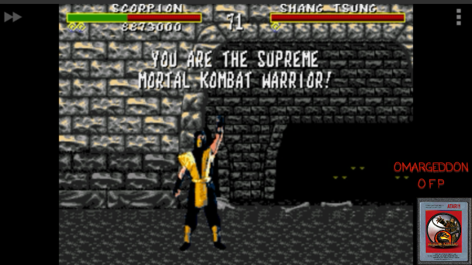 omargeddon: Mortal Kombat [Easy] (Sega Genesis / MegaDrive Emulated) 8,873,000 points on 2017-05-19 00:41:28
