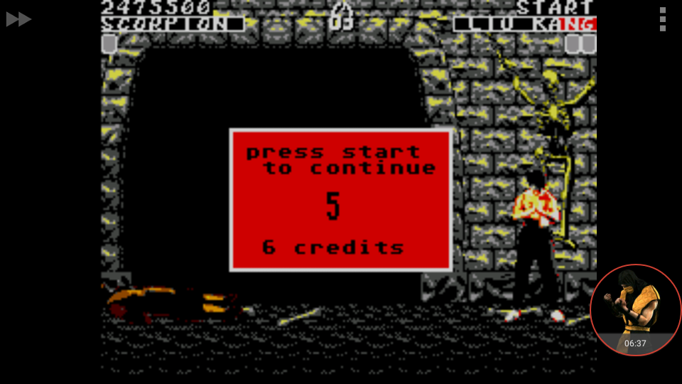 omargeddon: Mortal Kombat [Easy] (Sega Master System Emulated) 2,475,500 points on 2017-12-25 02:56:34