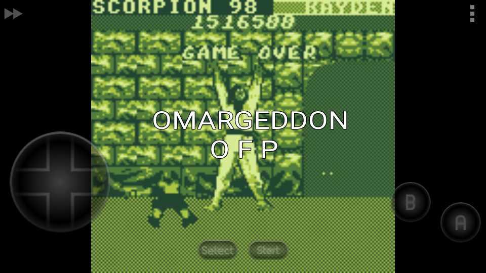 omargeddon: Mortal Kombat (Game Boy Emulated) 1,516,500 points on 2016-10-22 13:47:33