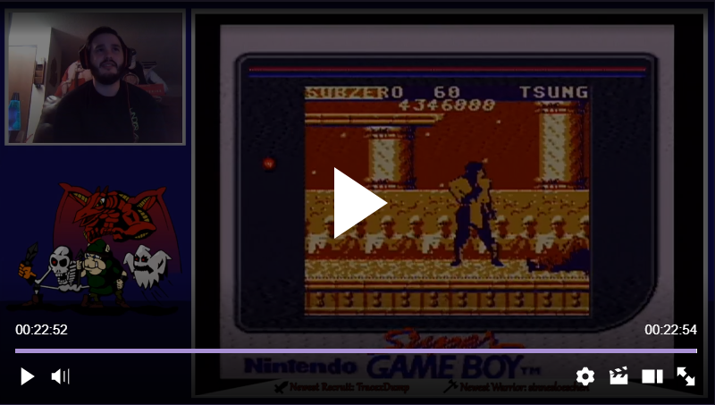 TheKombatKing: Mortal Kombat (Game Boy) 4,346,000 points on 2018-02-11 04:42:05