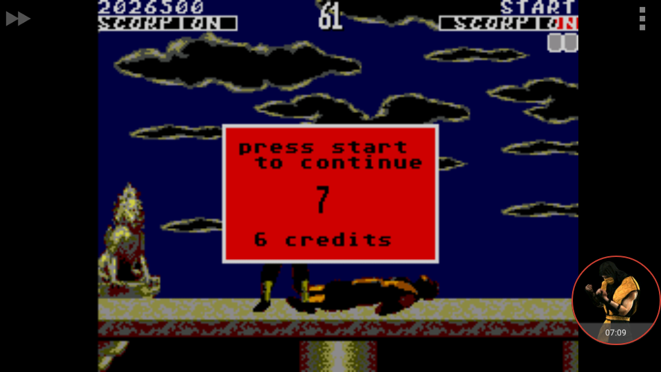 omargeddon: Mortal Kombat [Hard] (Sega Master System Emulated) 2,026,500 points on 2017-12-25 03:21:40