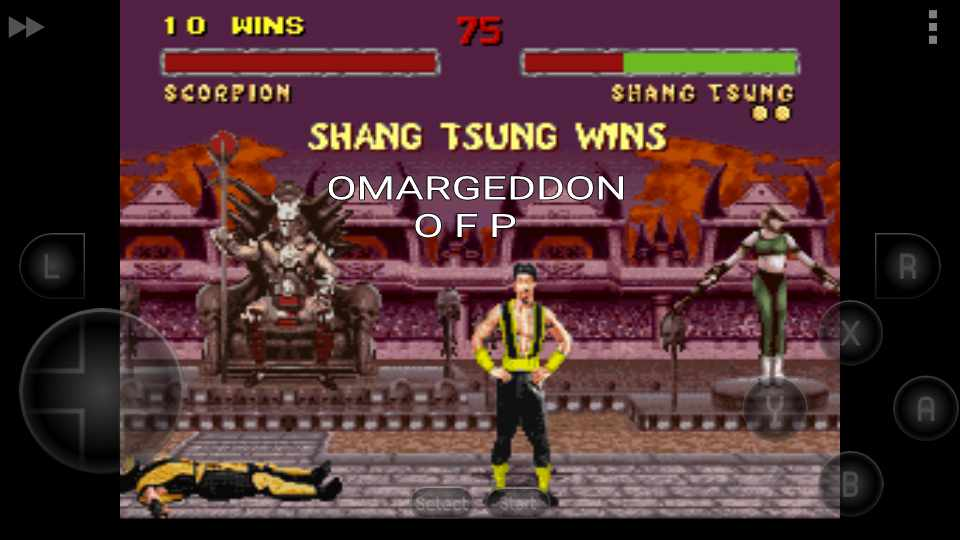 omargeddon: Mortal Kombat II: Easy [Win Streak] (SNES/Super Famicom Emulated) 10 points on 2016-09-25 15:54:02