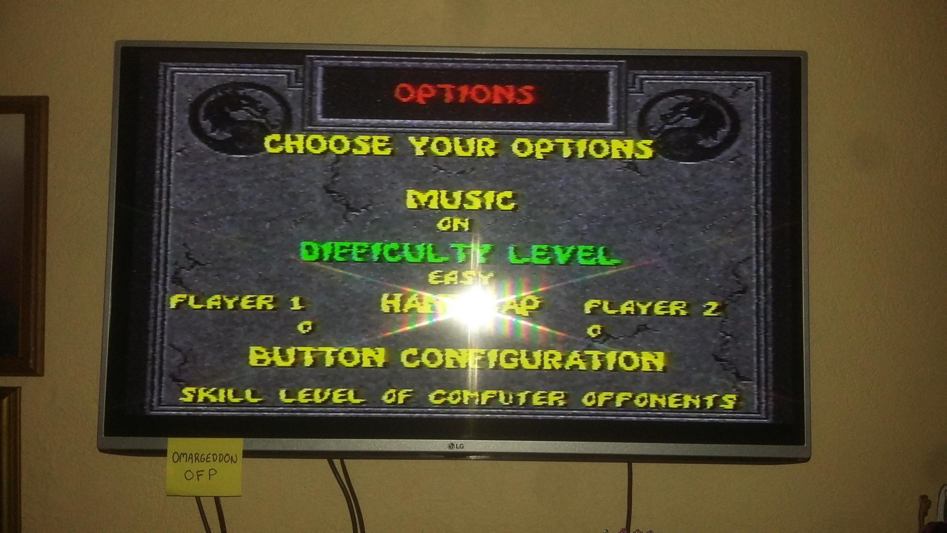 omargeddon: Mortal Kombat II: Easy [Win Streak] (SNES/Super Famicom) 12 points on 2016-11-30 10:42:38