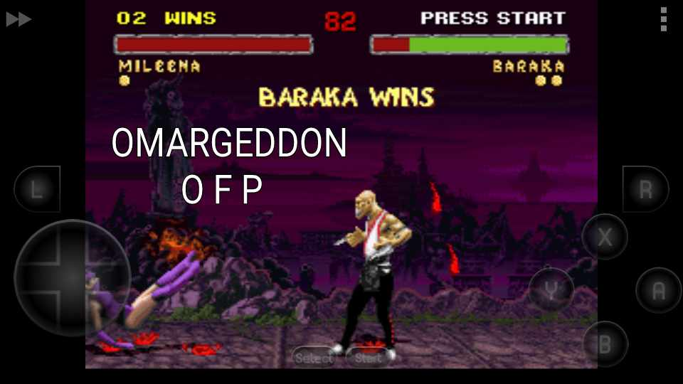 omargeddon: Mortal Kombat II: Hard [Win Streak] (SNES/Super Famicom Emulated) 2 points on 2016-10-26 22:03:55
