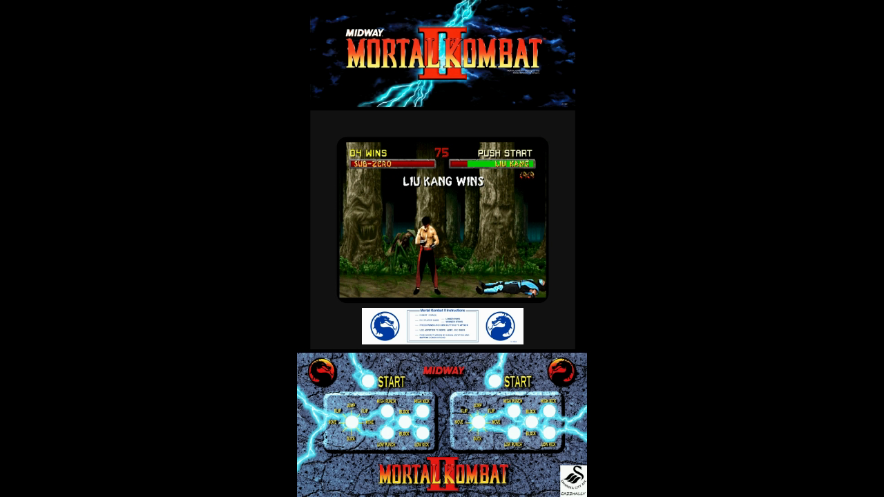 gazzhally: Mortal Kombat II [Win Streak] (Arcade Emulated / M.A.M.E.) 4 points on 2017-07-16 17:10:38