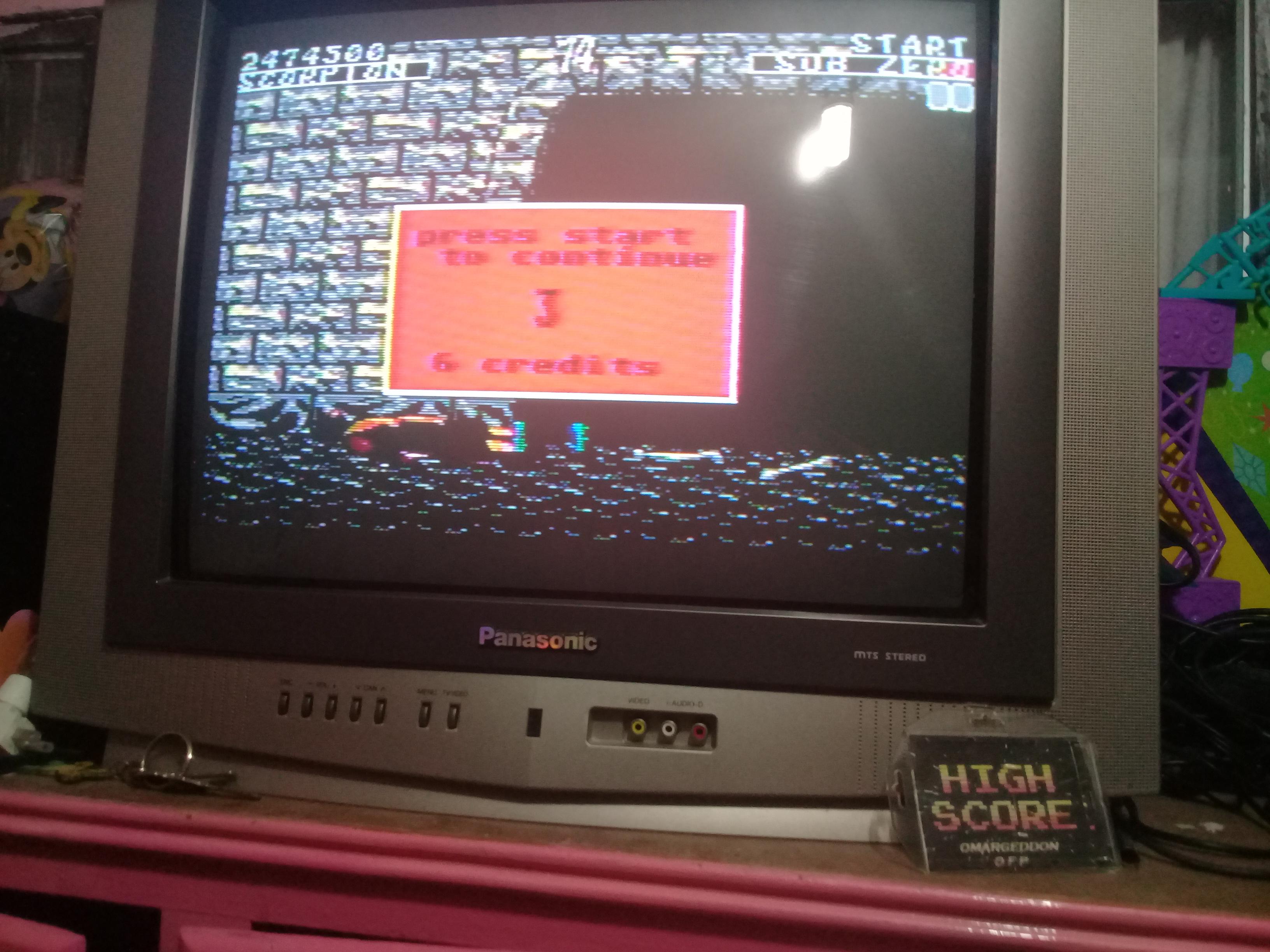 omargeddon: Mortal Kombat [Medium] (Sega Master System) 2,474,500 points on 2019-01-12 19:35:37
