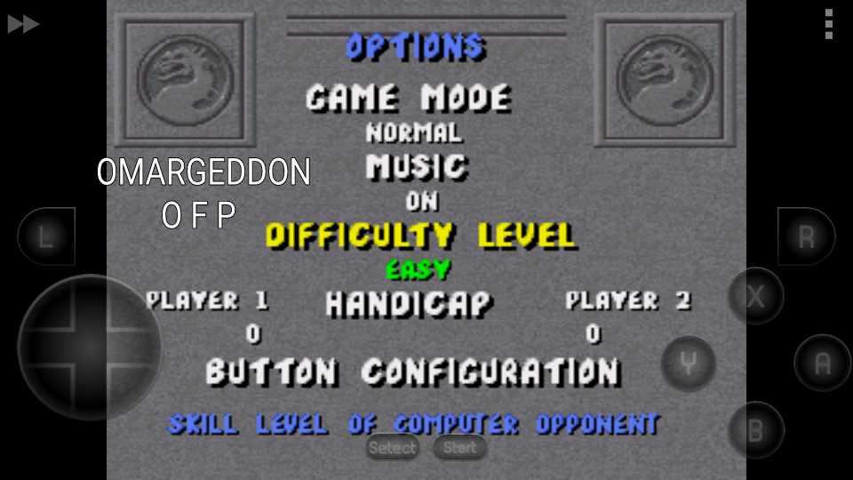omargeddon: Mortal Kombat [Normal/Easy/No Handicap] (SNES/Super Famicom Emulated) 2,668,500 points on 2016-10-22 14:17:13
