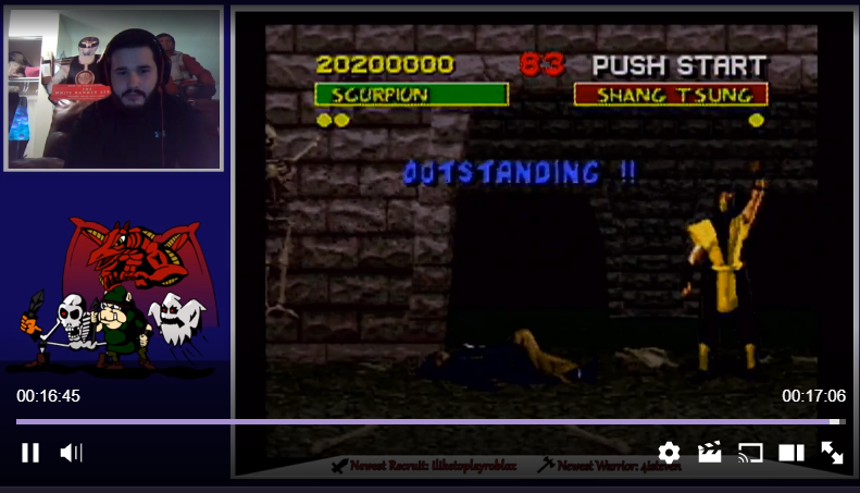 TheKombatKing: Mortal Kombat [Normal/Very Hard/No Handicap] (SNES/Super Famicom) 20,200,000 points on 2018-02-03 23:30:56