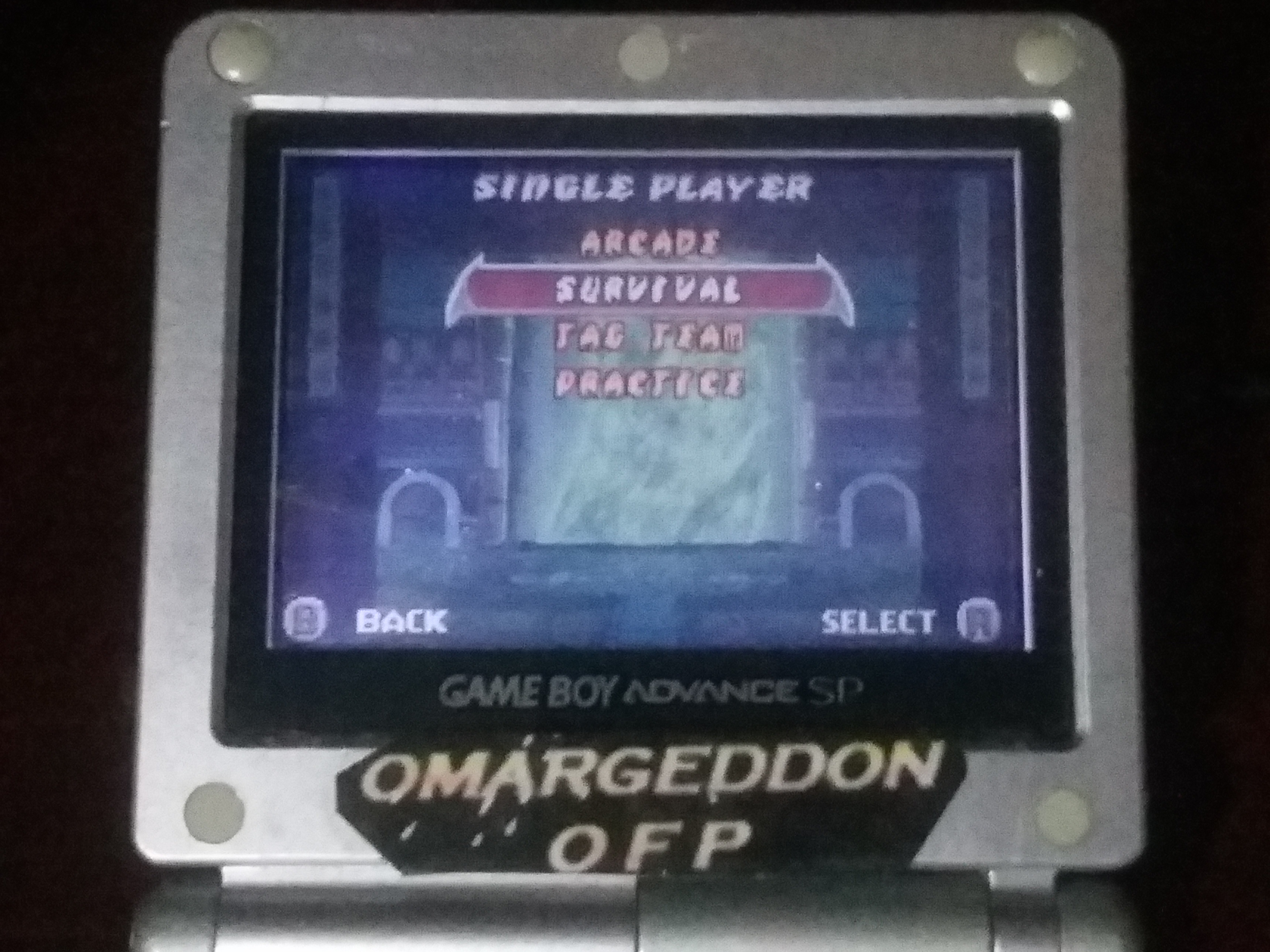 omargeddon: Mortal Kombat Tournament Edition: Survival (GBA) 7 points on 2018-04-25 20:58:39