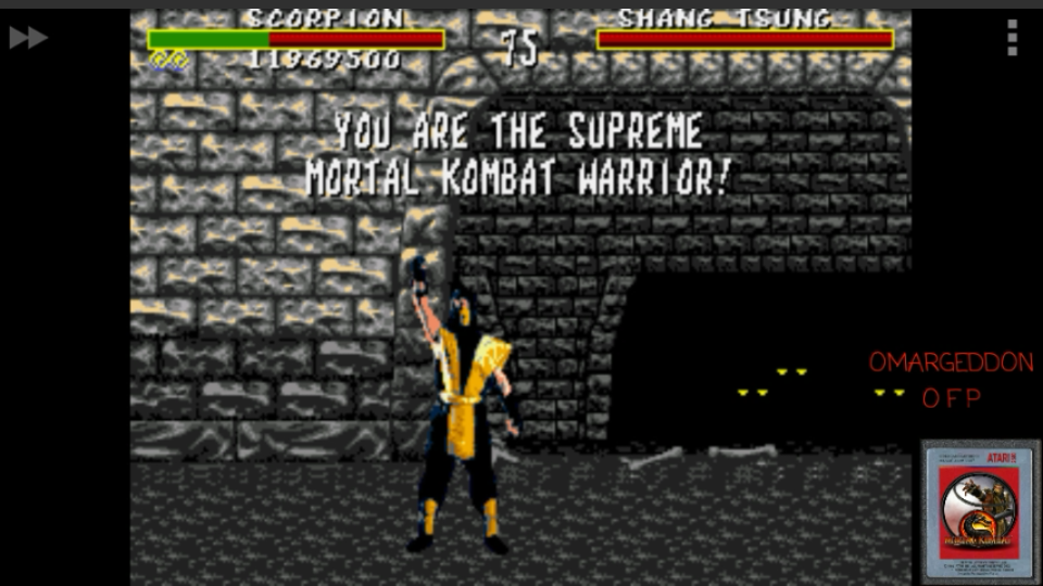 omargeddon: Mortal Kombat [Very Easy] (Sega Genesis / MegaDrive Emulated) 11,969,500 points on 2017-04-23 19:42:36