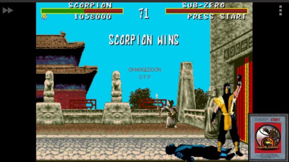 omargeddon: Mortal Kombat: Win Streak [Easy] (Sega Genesis / MegaDrive Emulated) 12 points on 2017-01-28 21:27:38