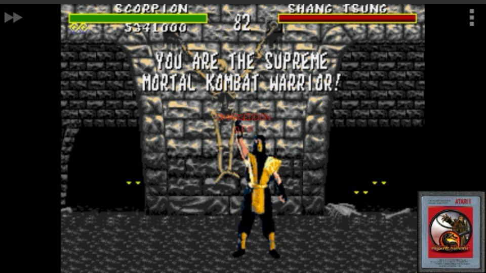 omargeddon: Mortal Kombat: Win Streak [Hard] (Sega Genesis / MegaDrive Emulated) 12 points on 2017-01-29 16:16:22