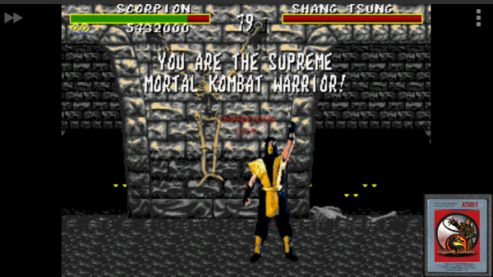 omargeddon: Mortal Kombat: Win Streak [Very Hard] (Sega Genesis / MegaDrive Emulated) 12 points on 2017-01-29 17:21:35