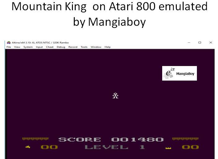 MangiaBoy: Mountain King (Atari 400/800/XL/XE Emulated) 1,480 points on 2018-10-25 16:11:55