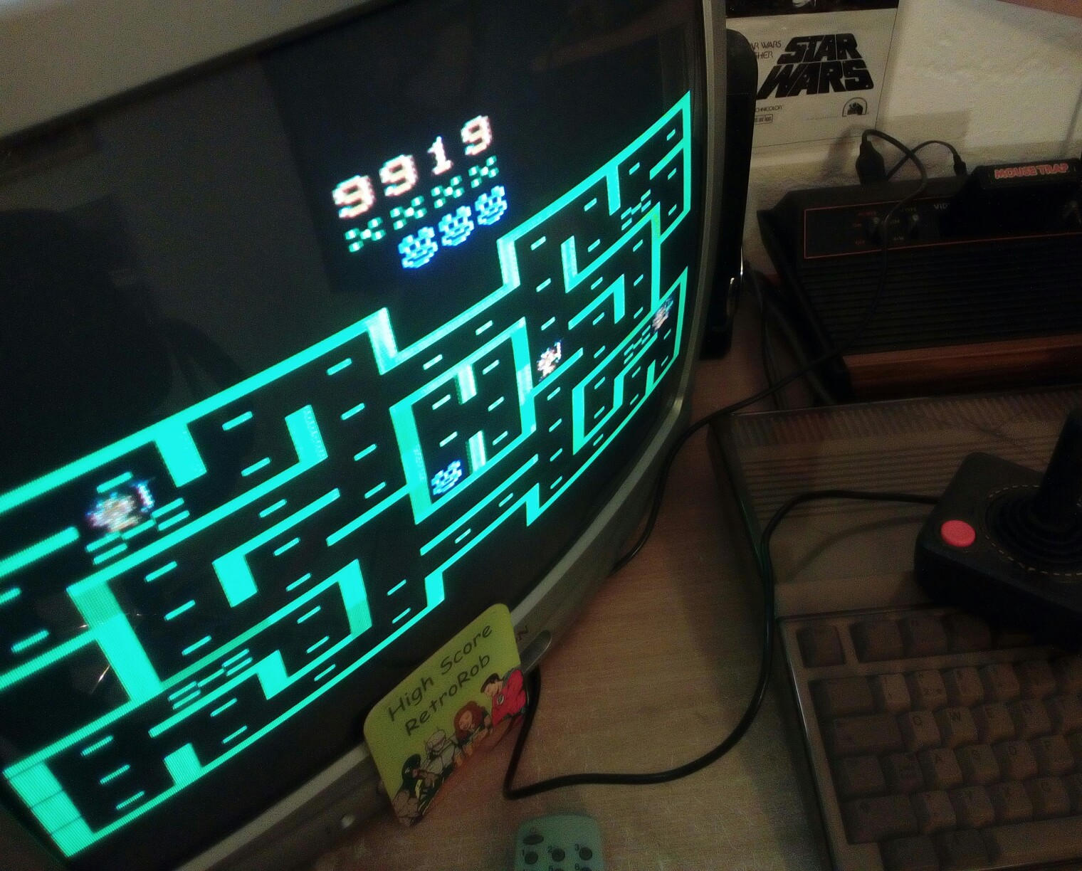 RetroRob: Mouse Trap (Atari 2600 Novice/B) 9,919 points on 2018-03-19 15:22:10