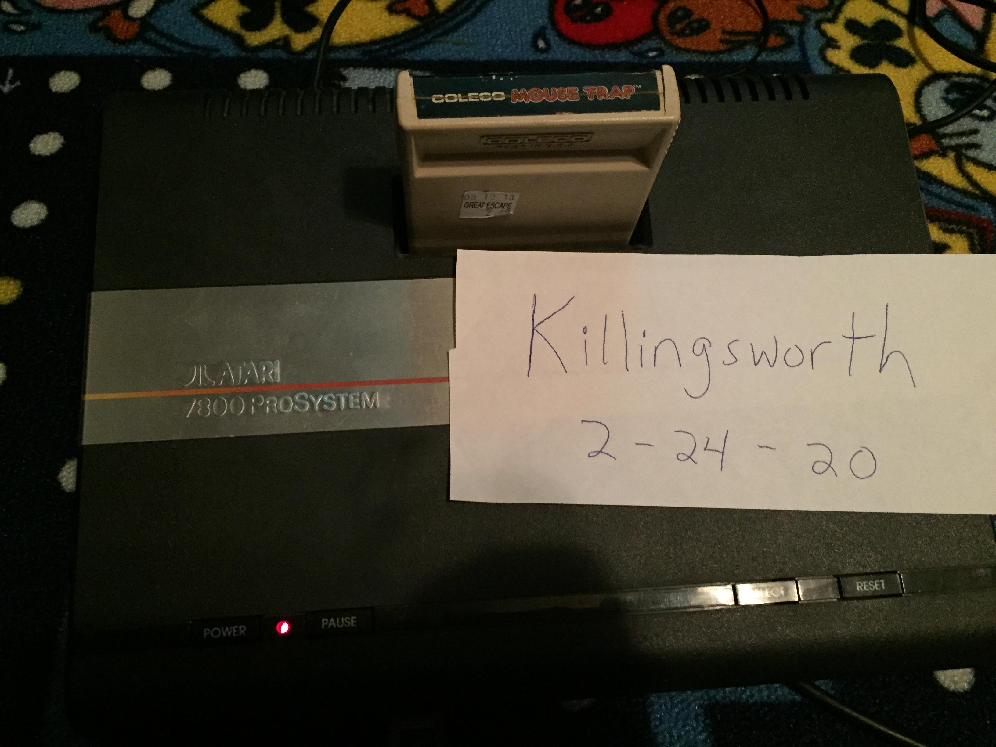 Killingsworth: Mouse Trap (Atari 2600 Novice/B) 9,999 points on 2020-03-01 19:30:17