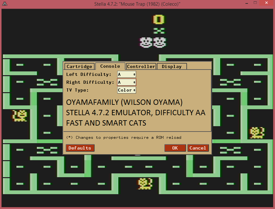 oyamafamily: Mouse Trap (Atari 2600 Emulated Expert/A Mode) 1,150 points on 2016-07-24 19:20:00